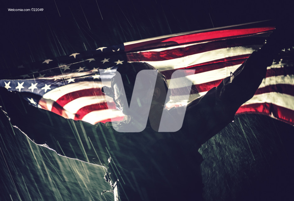 Proud Patriot US Soldier