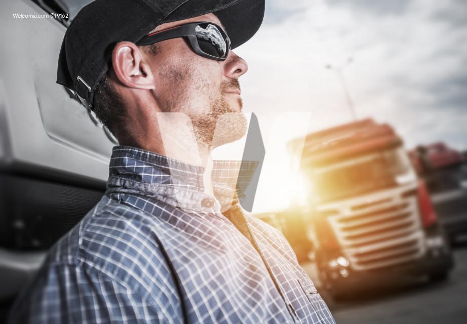 Proud Semi Truck Driver