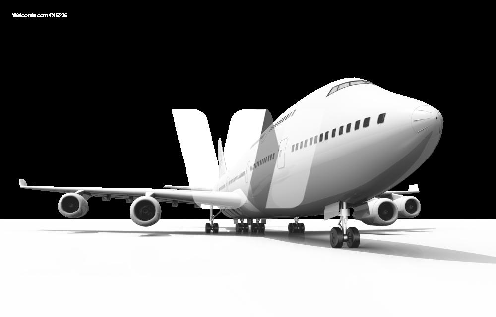 Quad Jet Airliner PNG