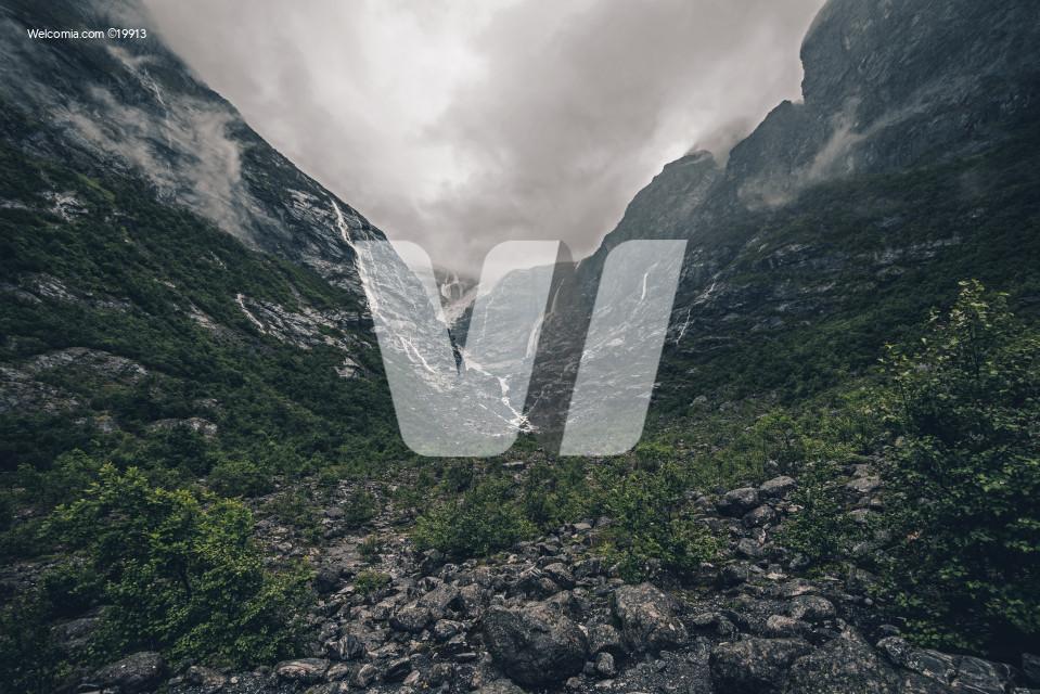 Rainy Glacier Landscape