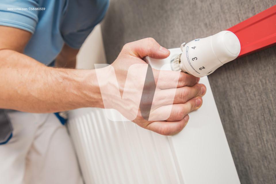 Residential Heating Radiator Installation and Adjustment