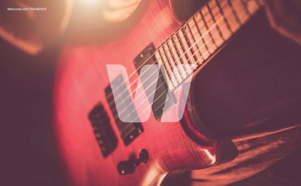 Rockman Guitarist Playing Hard.