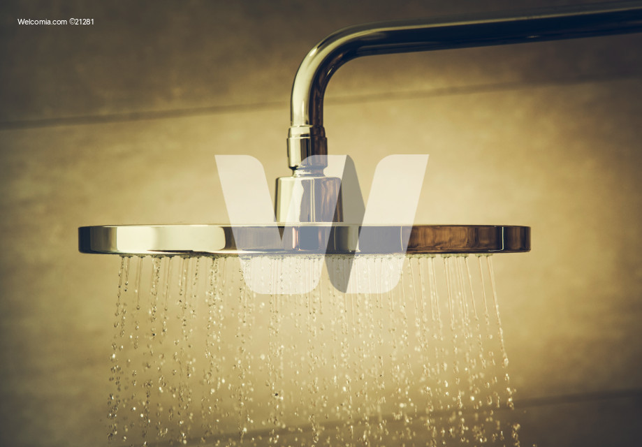 Running Shower Head Water