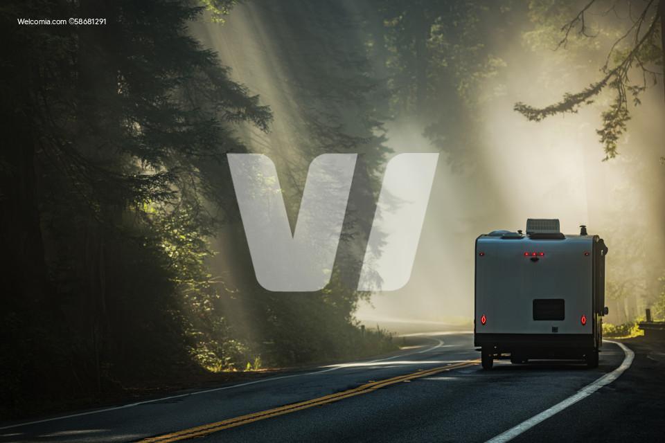 RV Travel Trailer California Coastal Road Trip