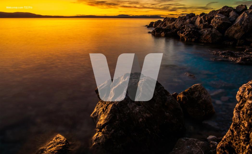 Scenic Adriatic Sea Sunset