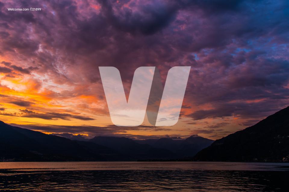 Scenic Lake Como Sunset