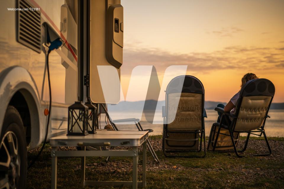 Scenic RV Campsite Pitch