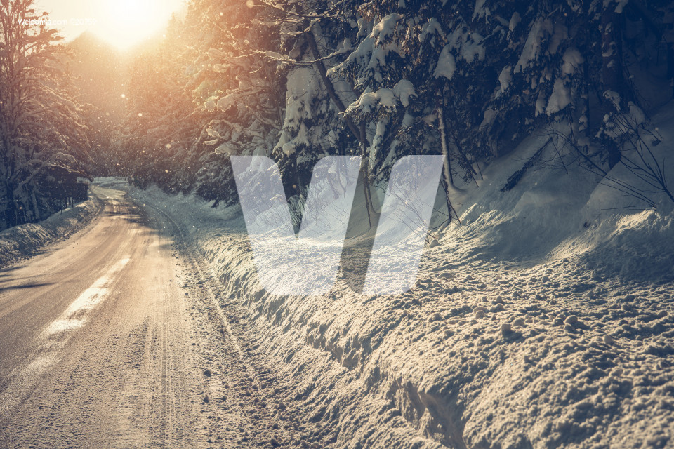 Scenic Winter Highway