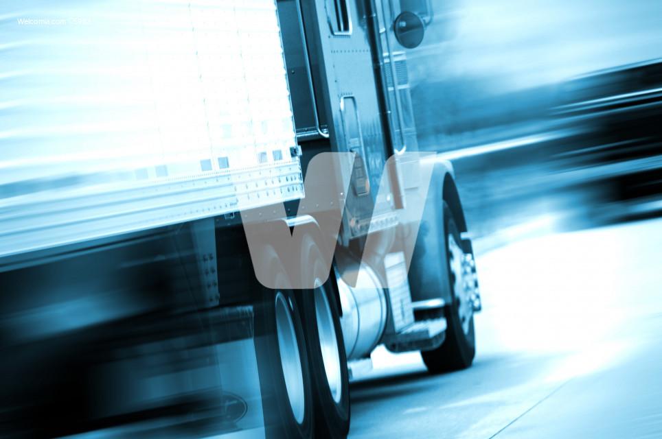 Semi Truck in Motion