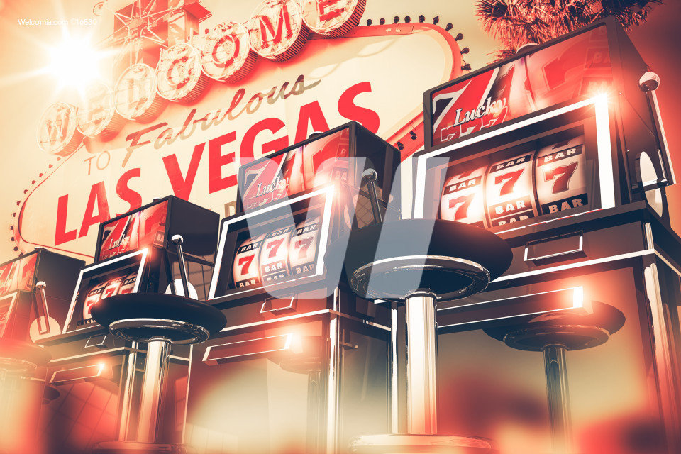 Slot Games in Vegas Concept