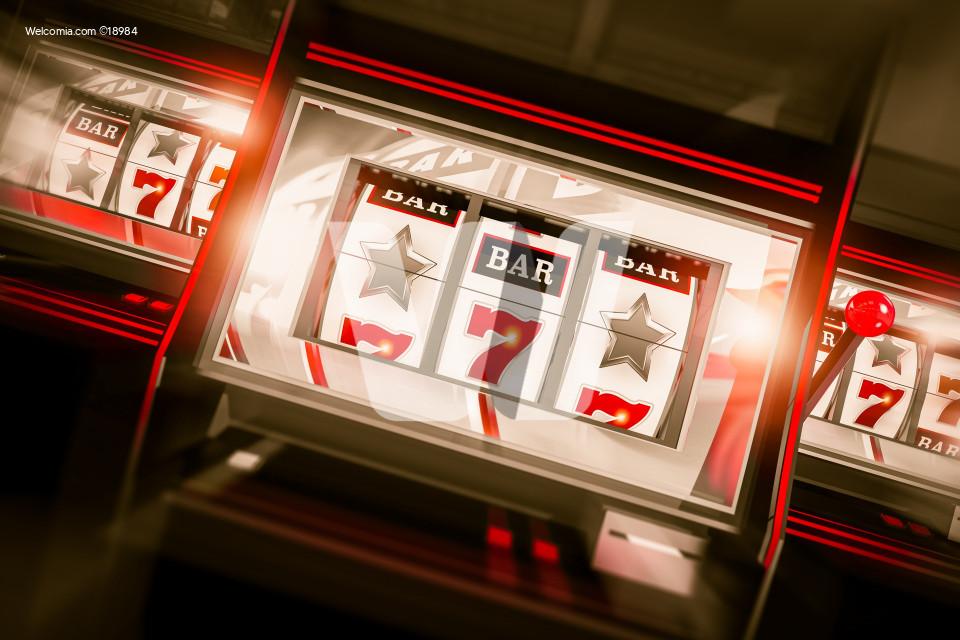 Slot Machine Spin 3D Render
