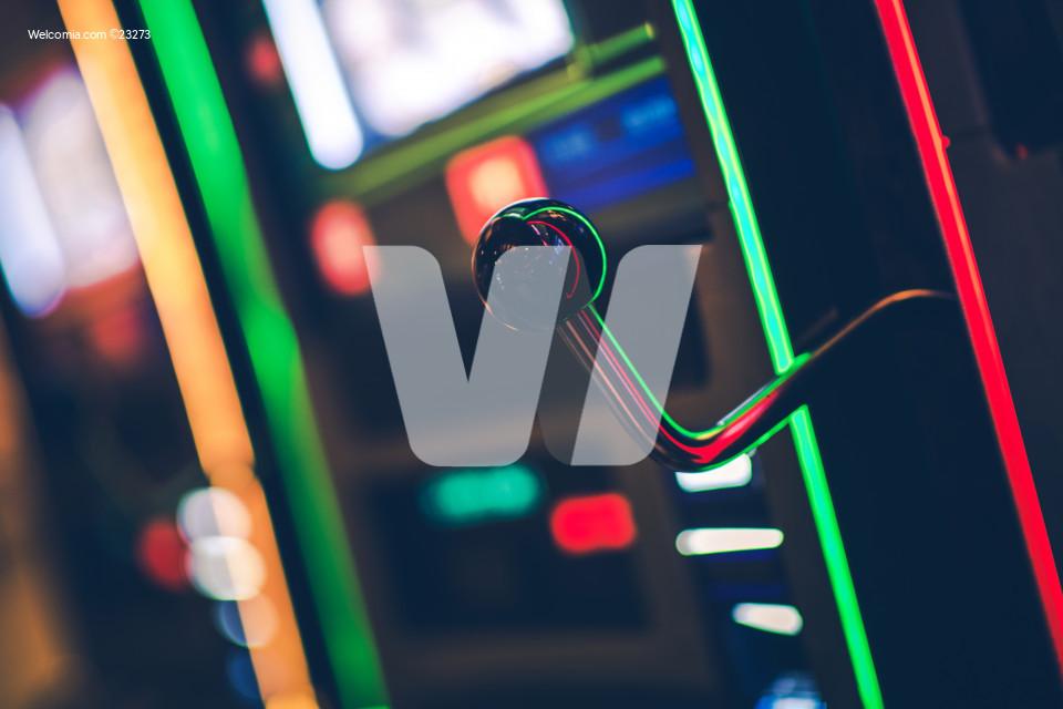 Close Up Shot Of Casino Slot Machine.