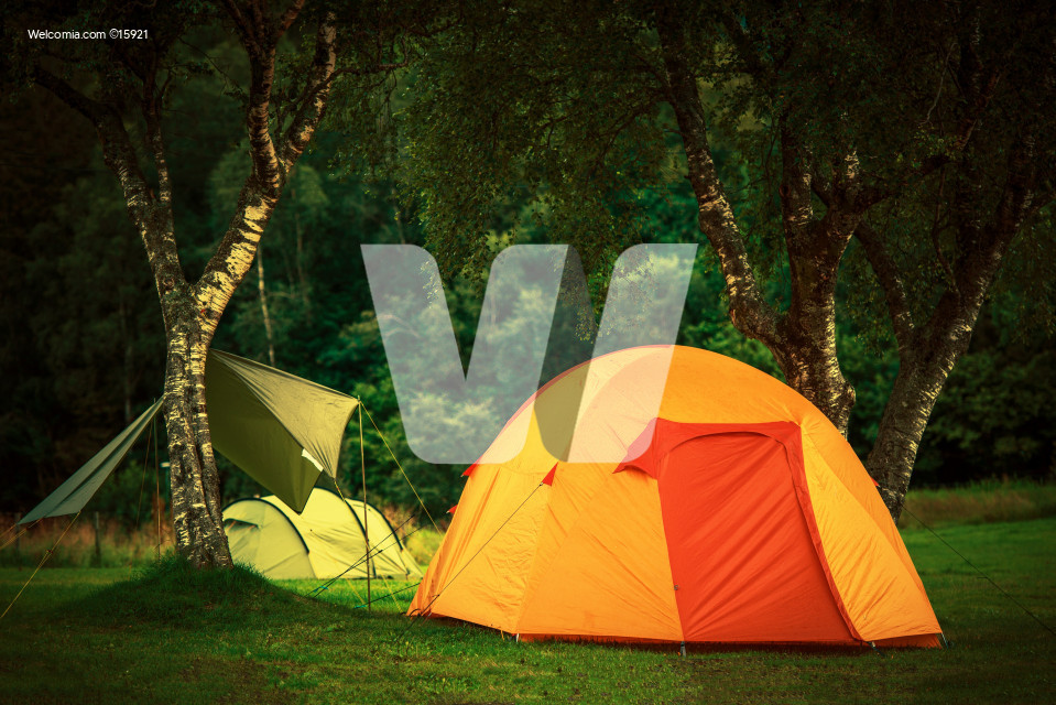 Small Orange Tent Camping