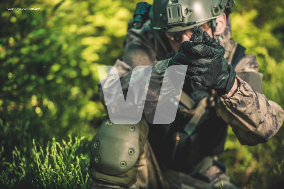 Solider with Handgun