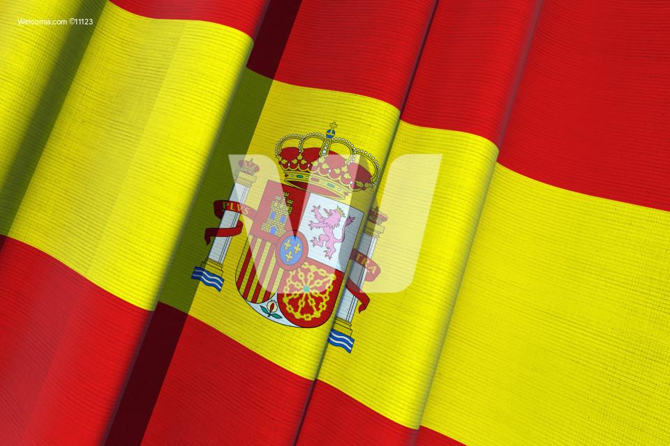 Spain Waving Flag 3D