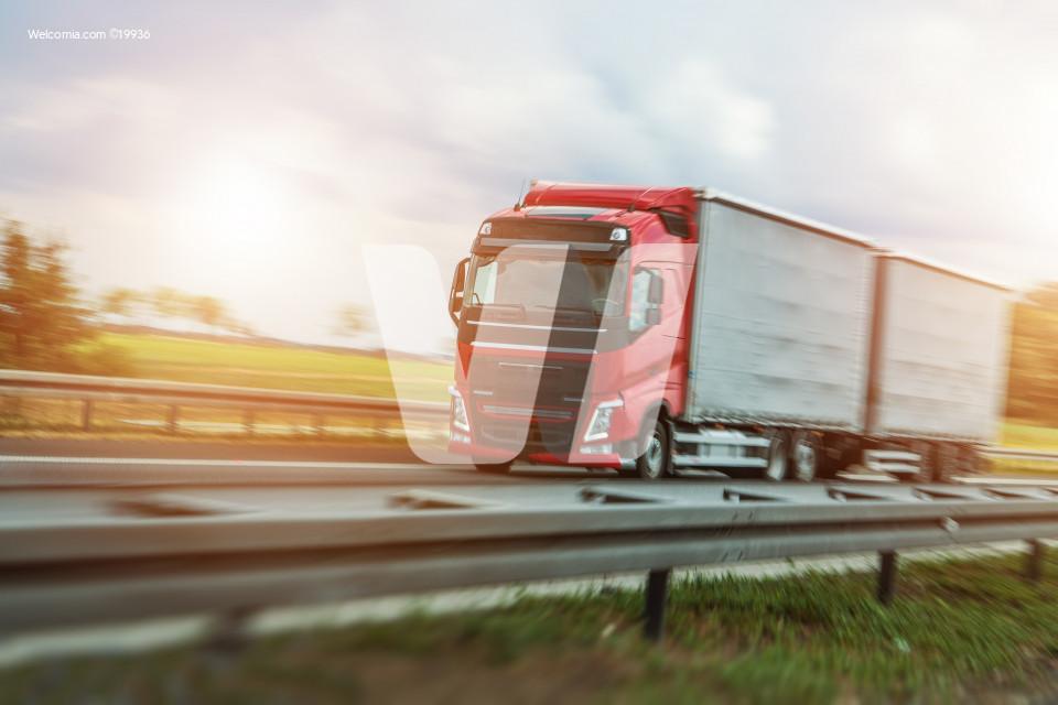 Speeding Euro Truck
