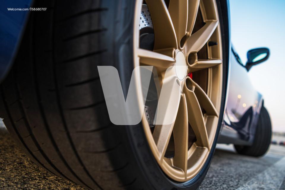 Sport Looking Vehicle Golden Alloy Wheels