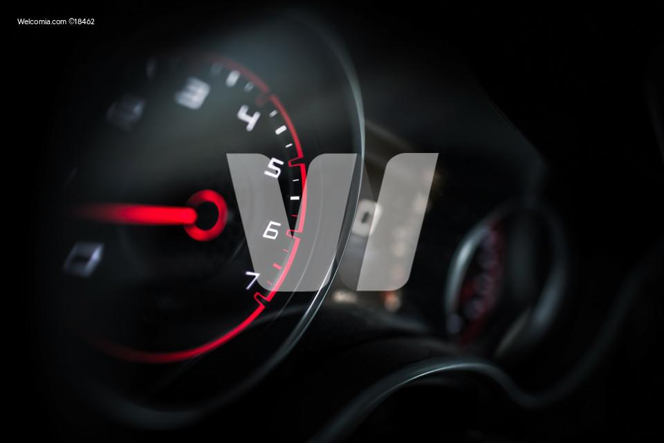 Sporty Car Dashboard Instruments