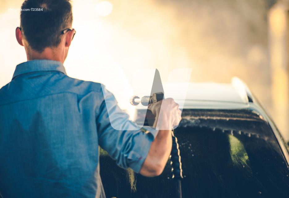 Spring Time Car Washing Using Pressure Washer