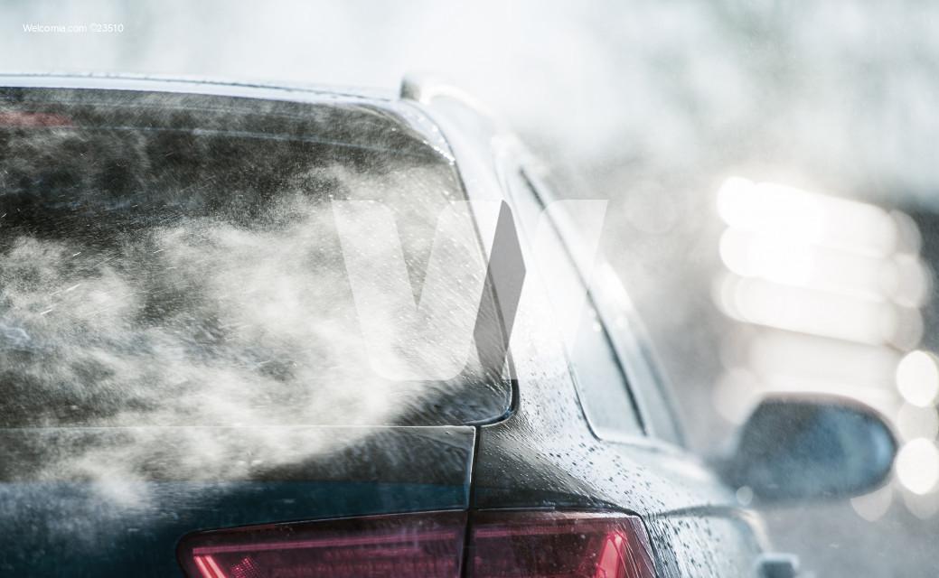 Spring Time Pressure Car Washing Close Up