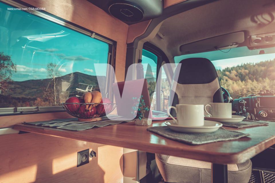 Stylish Self Made Camper Van Interior