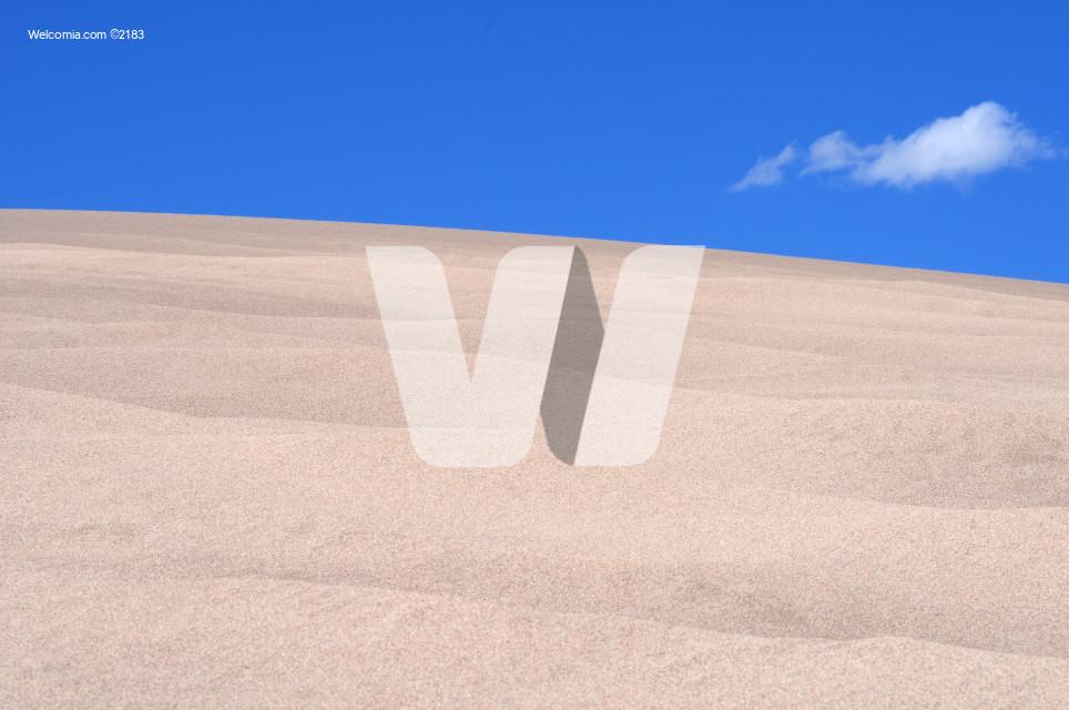 Scenic Desert Landscape with Blue Sky