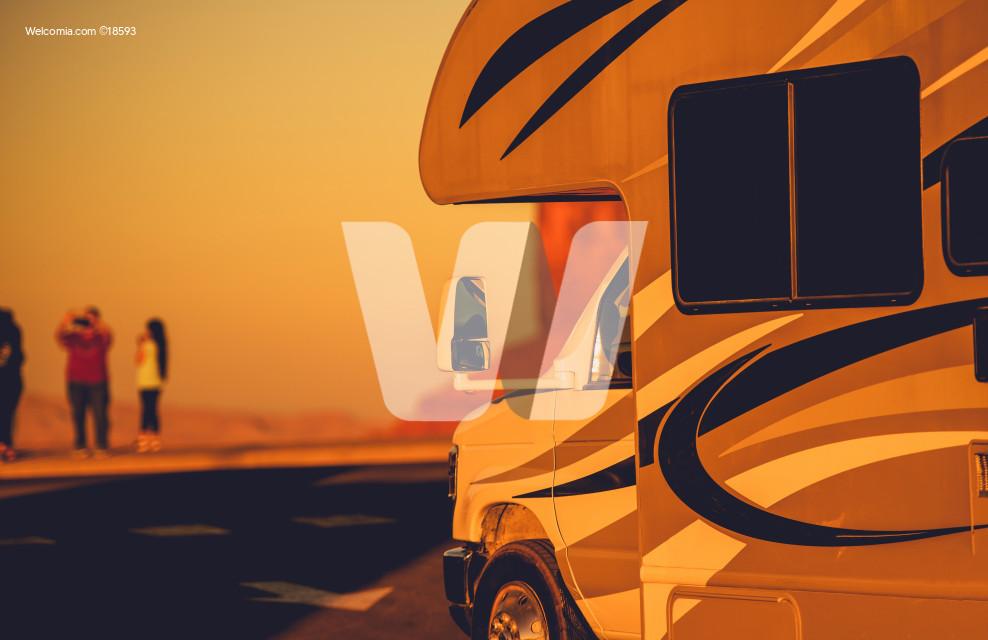 Vacation in RV Motorhome