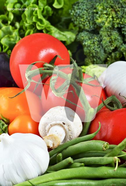 Organic Vegetables Closeup - Tabletop Studio Photo. Fresh Tasty Produce. Food Photo Collection.