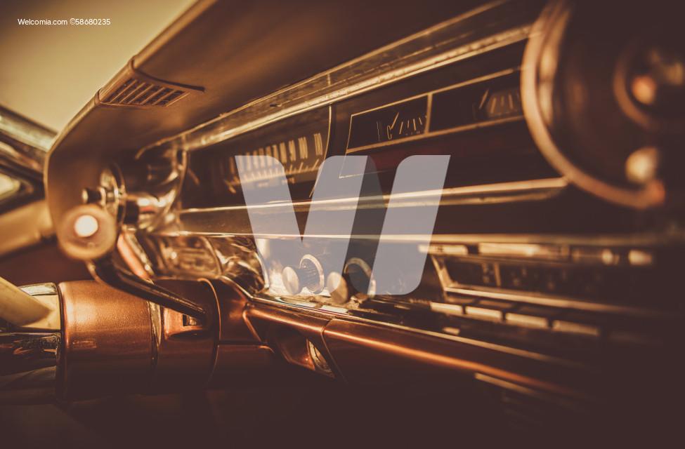 Vintage Classic Car Dashboard