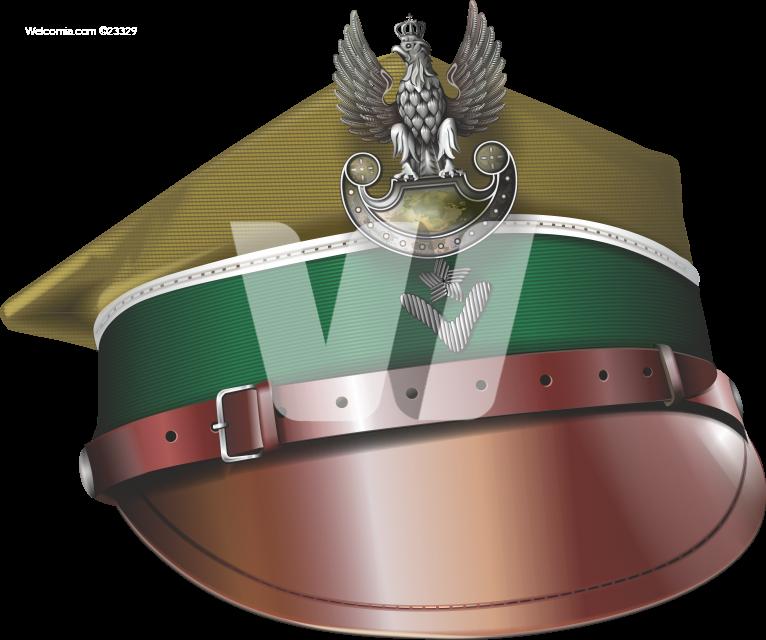 Vintage Polish Soldier Hat PNG Graphic