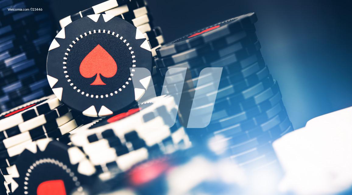 Bundle Of Casino Poker Chips.