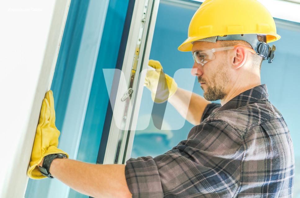 Window Installation by Worker