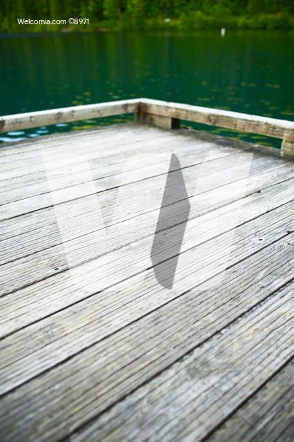Wood Dock on the Lake
