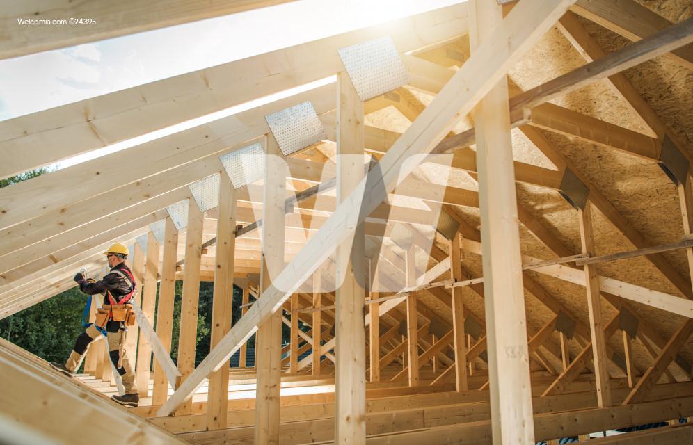Wooden Roof Skeleton Frame of Building