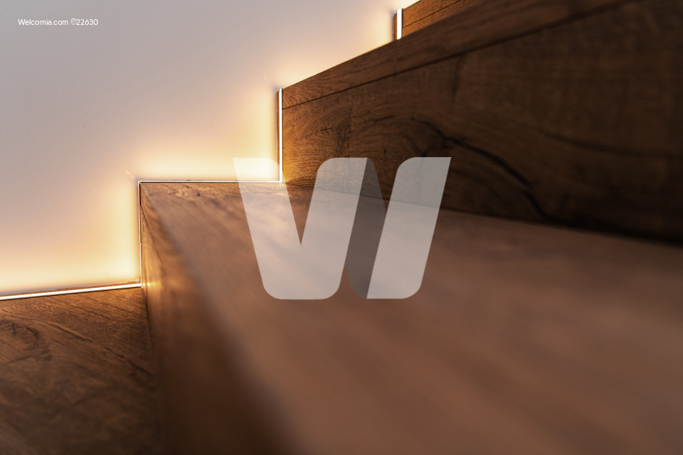 Wooden Stairs with LED