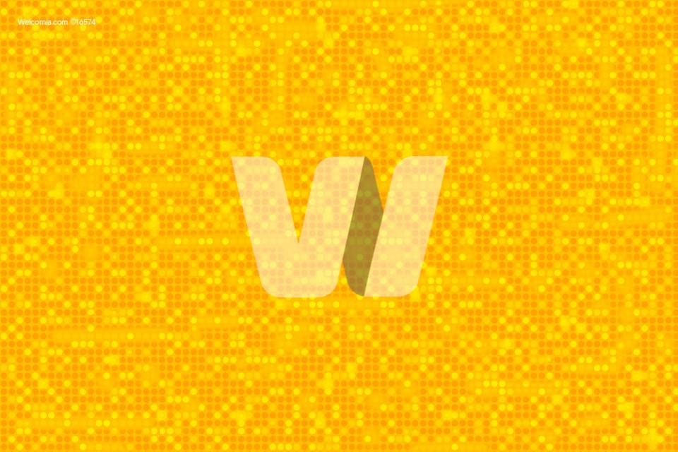 Yellow Dots Pattern Background