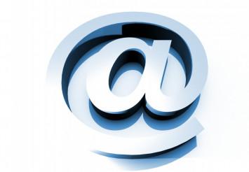 3D Big E-Mail Sign