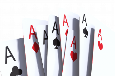 3D Casino Poker Cards PNG Isolated