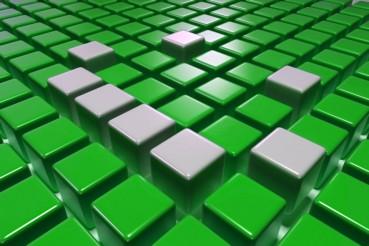 3D Green Blocks