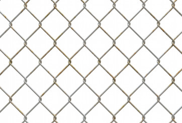 3D Metallic Fence Illustration