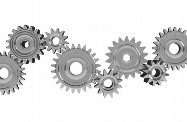 3D Metallic Gears Isolated