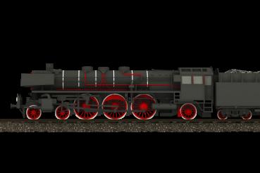3D Steam Locomotive Side View 3D PNG Image