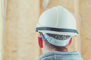 Architect in White Hard Hat