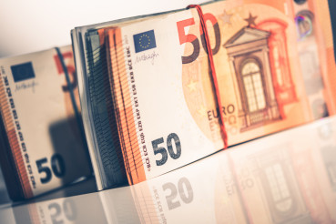 Euro Cash Money Stack