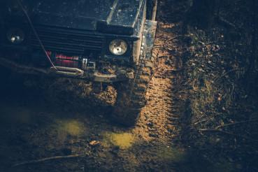Steep Grade Muddy Road