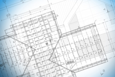 Blueprints Of Building Roof Structure In Private Home.