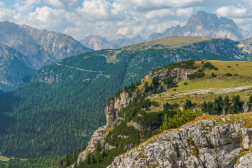 Mountain Range Of Italian Dolomites.