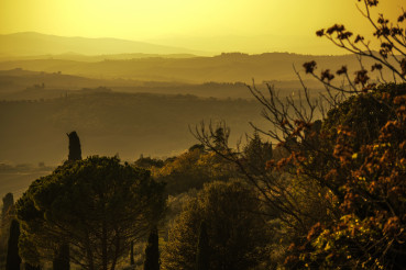 Panoramic View Of Tuscany Region in Central Italy.