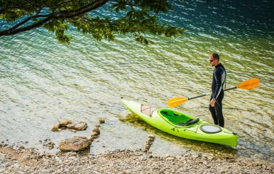 Summer Lake Kayaking Time