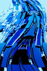Abstract Blue Blocks